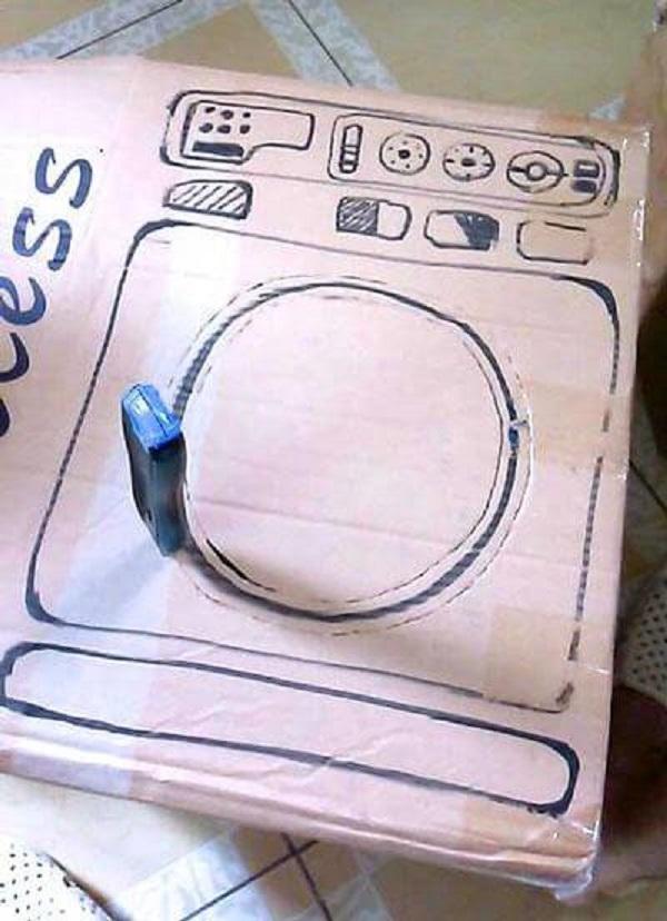 Cách đánh dấu cửa máy giặt và các nút bấm